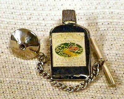 Southern Comfort Whiskey Tie Tack Pin and Chain Clasp