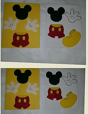 2 new ART Mickey mouse wall décor play room Home Party decoration kids baby