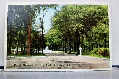 Canada Ontario Kingston City Park RCHA Monument Postcard Old Vintage Card View