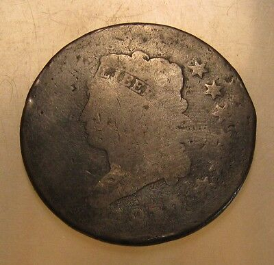 1812 Classic Head Large Cent Penny - Circulated Condition - 67SU