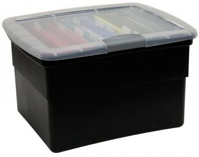 United Solutions-Organize Your Office OF0046 Snap & Lock File Box in Black-Offi