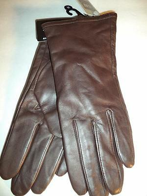Ladies Thinsulate Genuine Leather Gloves,Brown, Medium-SEE DESCRIPTION FOR PICS