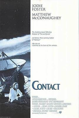Contact Original Double-Sided Advance Rolled Movie Poster 27x40 NEW 1997