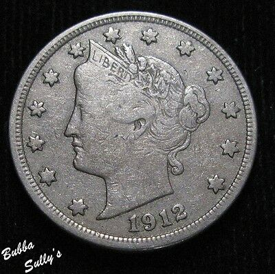 1912 Liberty Head 'V' Nickel <> VERY FINE