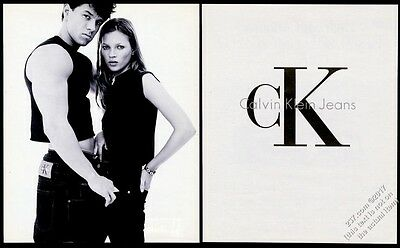 1993 Mark Wahlberg Kate Moss photo Calvin Klein Jeans vintage fashion ad