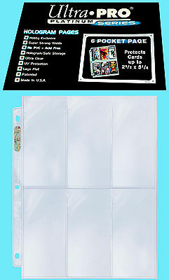 10 ULTRA PRO PLATINUM 6-POCKET Card Pages Sheets Protectors Sports Widevision