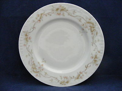 "5 Antique Austrian China 8.5"" Luncheon Salad Strawberry Garland Raised Scroll"