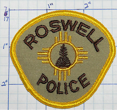 "New Mexico, Roswell Police Dept 2.75"" Patch"