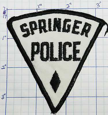 New Mexico, Springer Police Dept Vintage Patch