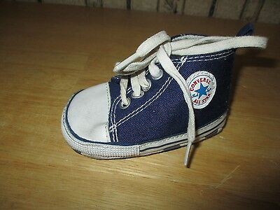 EUC infant navy blue CRIB CONVERSE CHUCK TAYLOR athletic shoes - size 2