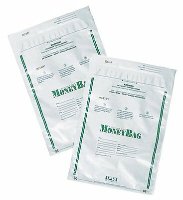PM Company Opaque Securit Degradable Tamper Evident Deposit Bags, 9 X 12 Inches
