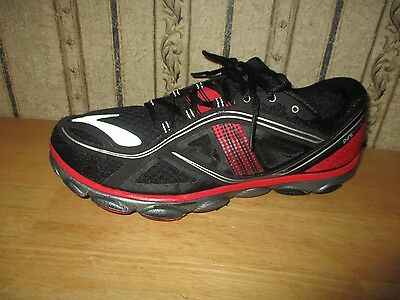 EUC men's red/black BROOKS PURE FLOW athletic shoes - size 9 1/2 - GREAT!!!