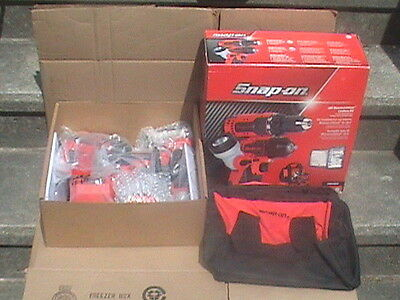 Snap on tools 18 volt monster lithium cordless tool kit CK8810DILX