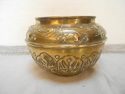 Antique FRENCH brass  PLANTER JARDINIERE