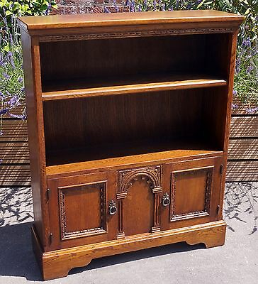 Old Charm Style Oak Bookcase With Storage