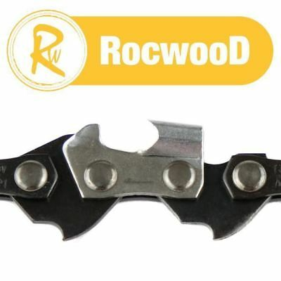 3//8LP 4 RocwooD 3//8 LP .043 1.1mm 45 DL Drive Links Chainsaw Saw Chains Loop