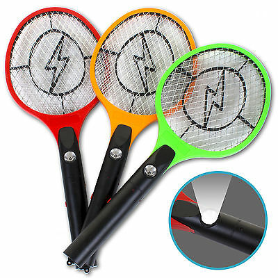 Electric Zapper Bug Fly Swatter Mosquito Insect Killer Wasp Trap Swat Racket Bat