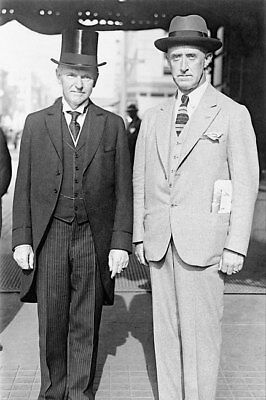 Calvin Coolidge and Col. Stallings Portrait 8x12 Silver Halide Photo Print