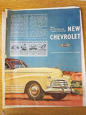 The New Chevrolet Motoring Advertisement Print