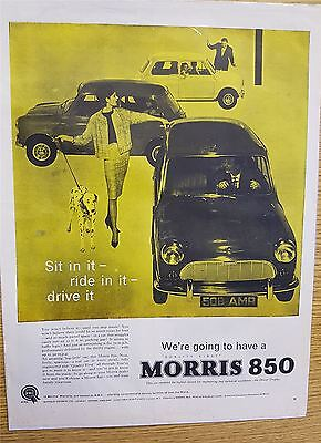 Morris 850 Motoring Advertisement Print