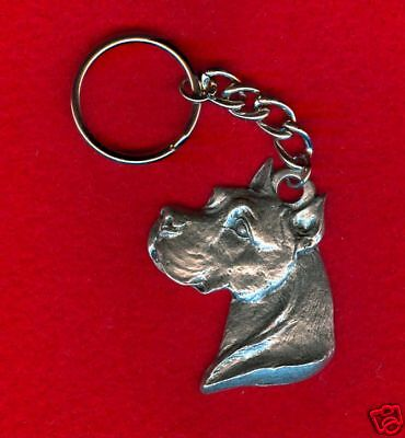 Purebred Animal Pet Jewelry 1 Pit Bull Terrier Pewter Key Chain All New.