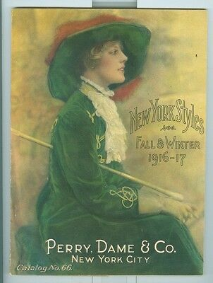 1916 Perry, Dame & Co. Women's Clothing Catalog New York City, color illustrated