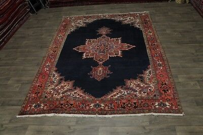 Exceptional S Antique Hand Knotted Heriz Persian Area Rug Oriental Carpet 8X11