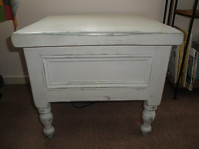 Vintage shabby chic solid wood storage box/ table/ seat