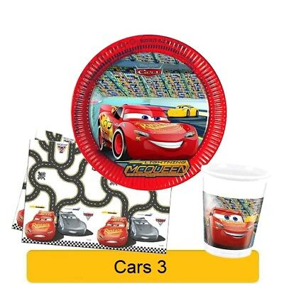 Disney CARS 3 NEW Birthday PARTY Range Tableware Balloons Decorations Supplies