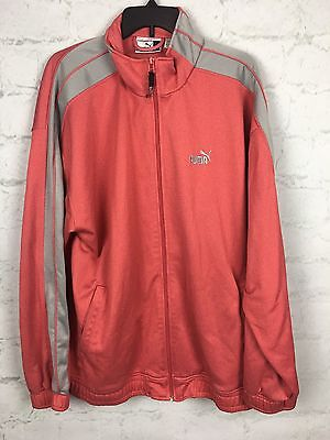 Puma Men's Heathered Red Track Jacket Zip Up Athletic Size XL