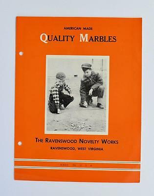 c 1950 SALES BROCHURE RAVENSWOOD NOVELTY WORKS QUALITY MARBLE s WEST VIRGINIA WV