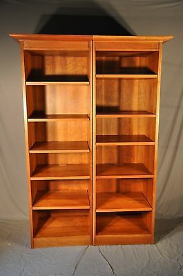 Stickley Cherry Two Piece Bookcase With Adjustable Shelves