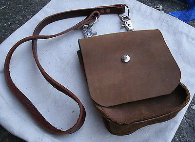Handmade Leather Pouch/Bag,snap off shoulder strap,brown -cosplay,steampunk,war