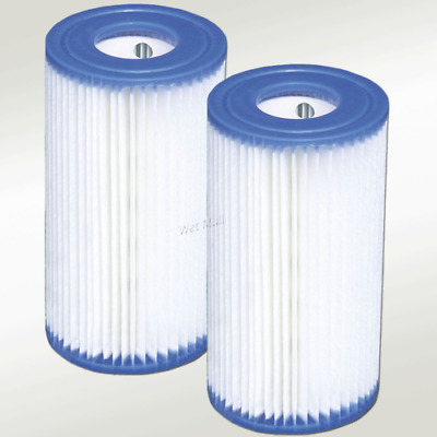 2 Pack Intex Type A Filter Cartridge for Above Ground Swimming Pool Pumps