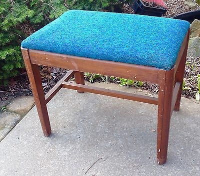 Art Deco Vanity Bench Wood Stool Chair Waterfall Piano Chair