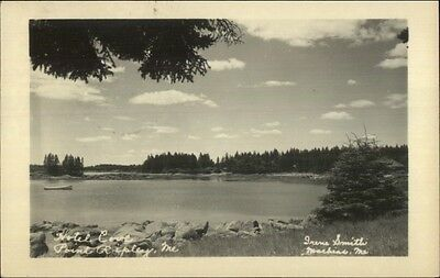 Machias ME Photographer - Point Ripley Hotel Cove 1950 Real Photo Postcard