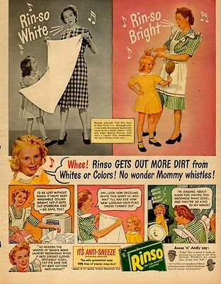 1941 vintage AD RINSO Laundry Soap Rinos White Rinso Bright 062017