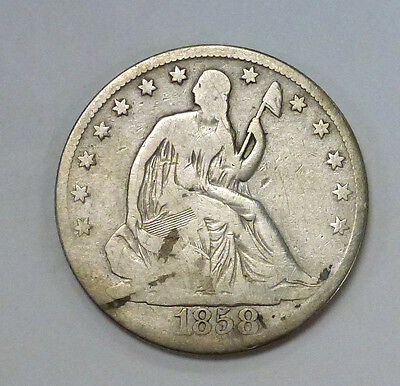 {Bjstamps}  1858-O Seated Liberty Silver Half Dollar