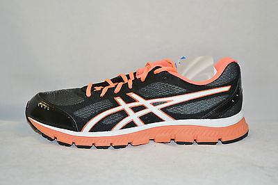 Asics GEL FLASH Womens TRAINING Running Shoes Size 7.5 NEW BLACK WHITE CORAL