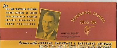 Barlow Federal Hardware & Implement Mutuals San Francisco Ad Blotter 1920s