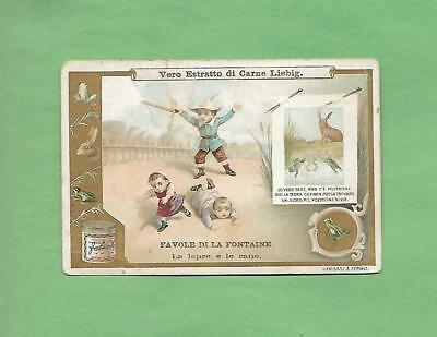 CHILDREN PLAY SOLDIER On Colorful Italian LIEBIG Victorian Trade Card