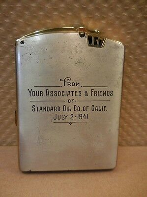 1941 Ronson Twentycase Lighter - Standard Oil Co Of California