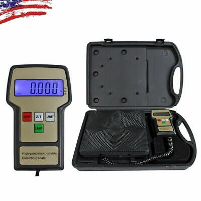 220 lbs Electronic Digital Refrigerant Charging Weight Scale with Case for HVAC