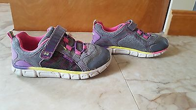 Toddler girl Stride Rite Surprize CHARITY gray pink washable sneakers shoes 11