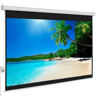 """Big Sale 100"""" 4:3 Material Foldable Electric Motorized Projector Screen +Remote"""