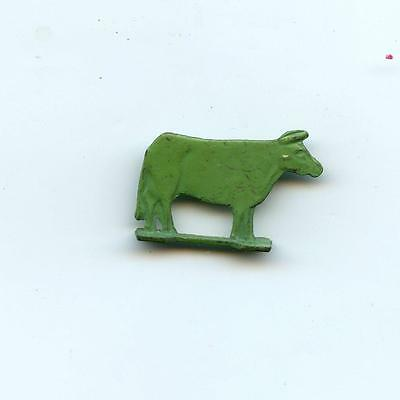 vintage CRACKER JACK  rare METAL stand up animal COW   Toy Prize