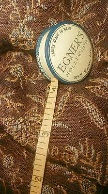 Antique Sewing Tape Measure EGNERS HOLLYWOOD DRESSMAKER Millinery Los Angeles