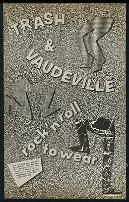 1984 Trash and Vaudeville fashion store New York City BIG vintage print ad