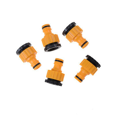 """5X ABS Garden Hose Water Pipe Connector Tube Fitting Tap Adapter 1/2"""" & 3/4"""" HU"""