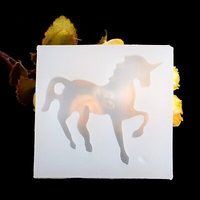 DIY Unicorn Horse Silicone Mold Mould For Resin Pendant Necklace Jewelry Making